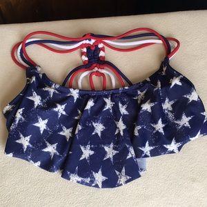 Xhilaration patriotic bikini top sz XS